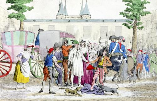 Louis XVI and his family taken to the Temple 1792 by French School