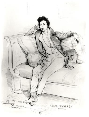 Alexandre Dumas Pere by Achille Deveria