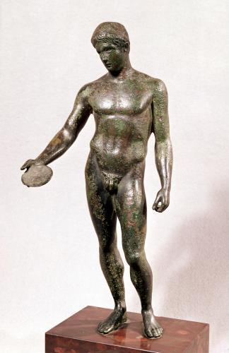 Ephebe making a libation by Roman Art