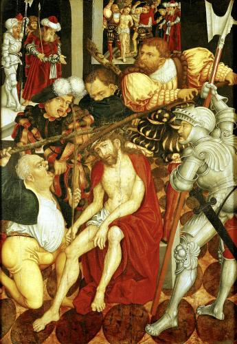 The Mocking of Christ by Lucas Cranach