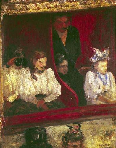 Box at the Opera-Comique 1887 by Charles Cottet