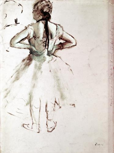 Dancer viewed from the back by Edgar Degas