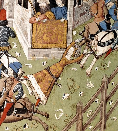 The Torture of Brunhilda from 'Des Hommes Illustres' c.1460 by French School