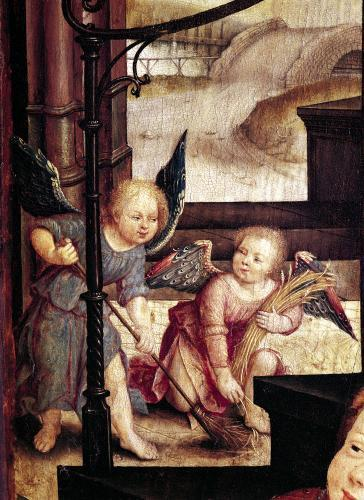 Triptych of the Adoration of the Child 1529 by Jean Bellegambe the Elder