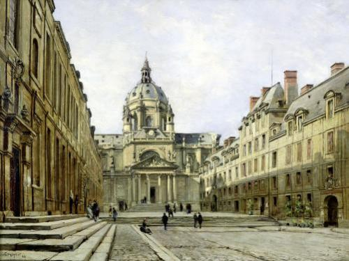 The Courtyard of the Old Sorbonne 1886 by Emmanuel Lansyer