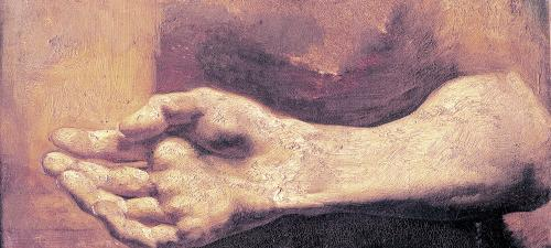 Study of a Hand and Arm by Jean-Louis-André-Théodore Géricault