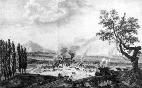 Royal Foundry at Le Creusot in 1787 by French School