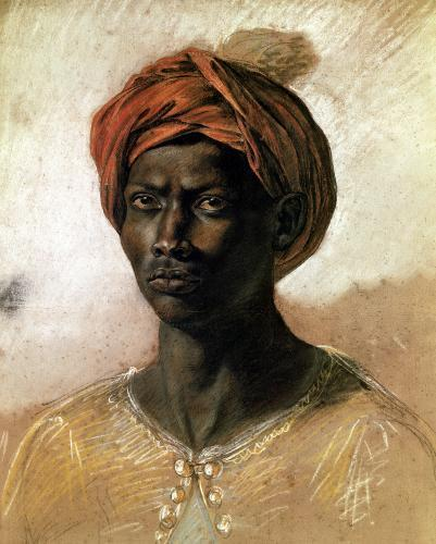 Portrait of a Turk in a Turban c.1826 by Eugene Delacroix