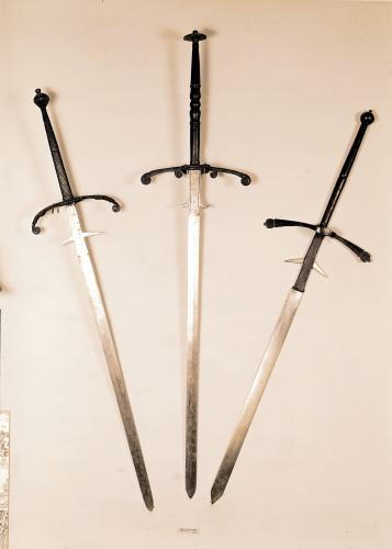 Three two-handed swords 1570 by French School