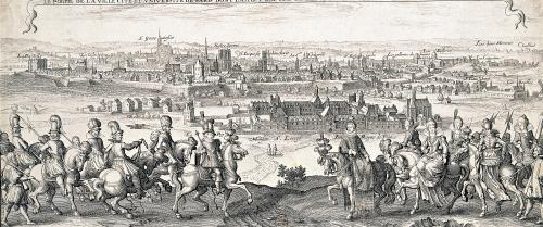 The Queen with her Entourage 1616 by Matthaus Merian the Elder