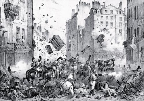 Rue Saint-Antoine 1830 by Victor Adam