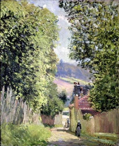 A Road in Louveciennes 1883 by Alfred Sisley