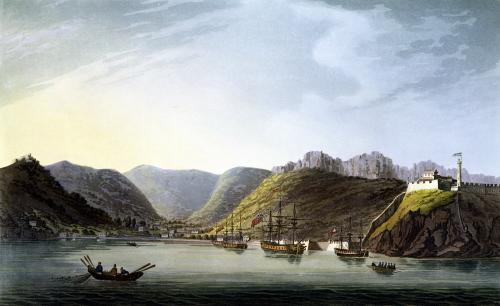View of the West Side of Porto Ferraio Bay, Elba by Captain James Weir