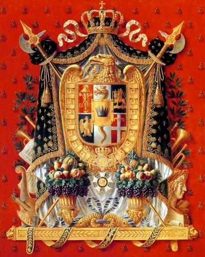 Coat of Arms of Italy 1808 by Louis Saint-Ange-Desmaisons