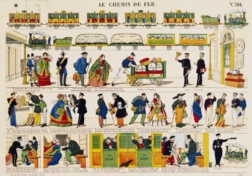 Rail Travel c.1850 by French School
