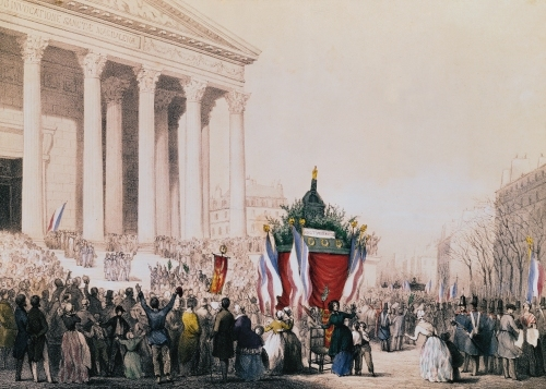 Funeral of the victims of the riots of February 1848 at La Madeleine by Jean Naissant & H. Raunheim