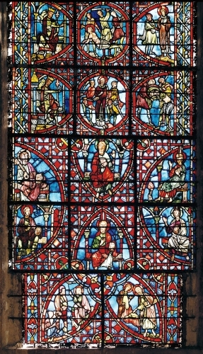 Window from the ambulatory by French School