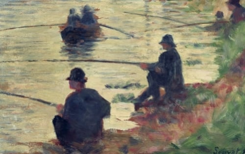 Anglers Study for 'La Grande Jatte' 1883 by Georges Seurat