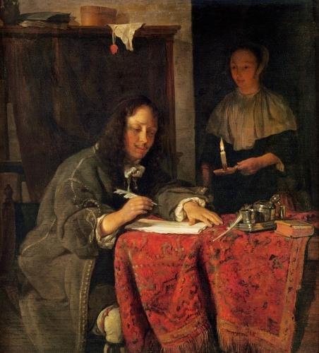 The Writer by Gabriel Metsu