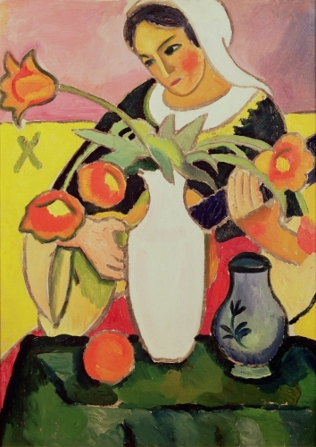 The Lute Player 1910 by August Macke