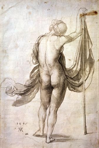 Nude Female from the Back 1495 by Albrecht Dürer