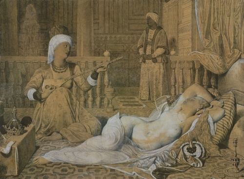 Odalisque with a Slave 1858 by Jean-Auguste-Dominique Ingres