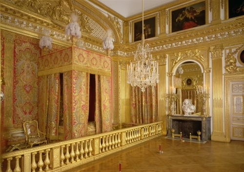 Interior of Louis XIV's bedroom 1701 by French School