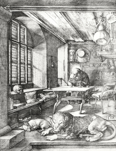St. Jerome in his Study 1514 by Albrecht Dürer