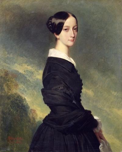 Portrait of Francisca Caroline de Braganca 1844 by Franz Xavier Winterhalter