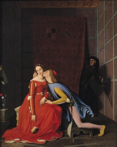 Francesca da Rimini and Paolo Malatesta 1819 by Jean-Auguste-Dominique Ingres