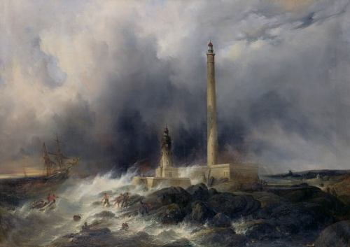 View of the Lighthouse at Gatteville by Jean Louis Petit