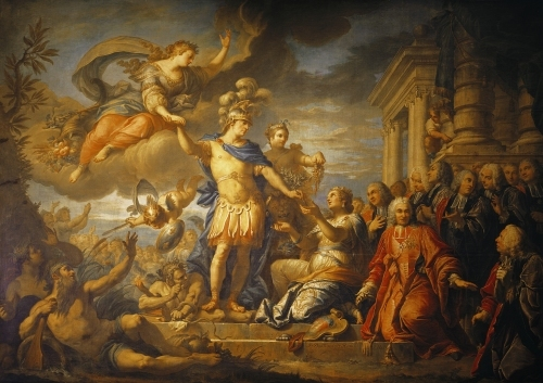 Allegory of the Peace of Aix-la-Chapelle 1761 by Jacques Le Romain Dumont