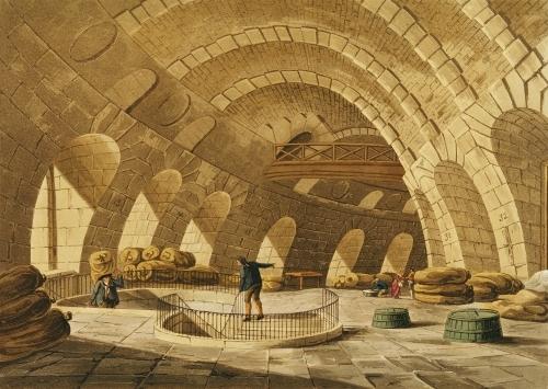The Wheat Store Rue de Viarmes by John Claude Nattes
