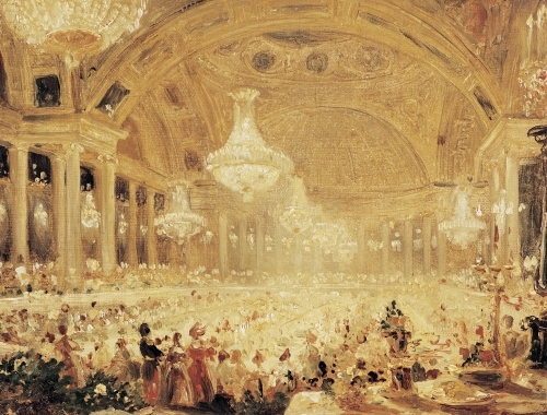 Dinner at the Tuileries by Eugene Emmanuel Viollet-Le-Duc