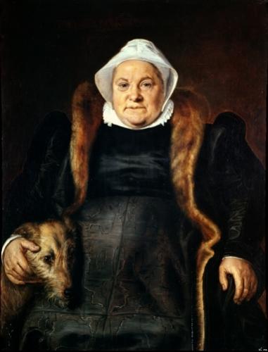 Portrait of an Elderly Woman 1558 by Frans Floris