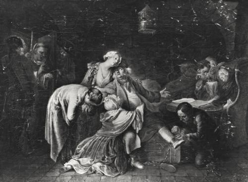 Jean Calas Bidding Farewell to his Family by Daniel Nikolaus Chodowiecki