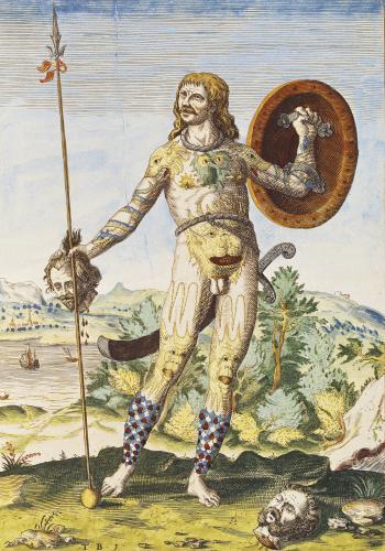 Pictish man from 'Admiranda Narratio...' by John White