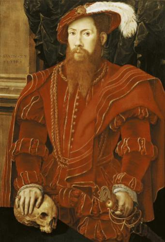 Portrait of a Gentleman of the English Court 1546 by Hans Eworth