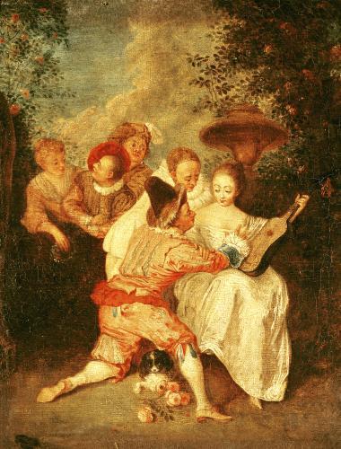 The Storyteller by Jean Antoine Watteau