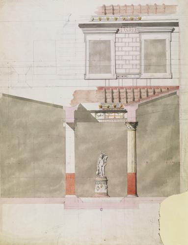 Design for the atrium of the Pompeiian palace of Prince Napoleon III by French School