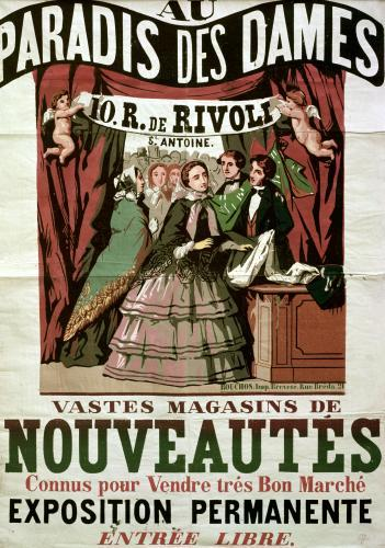 Poster advertising 'Au Paradis des Dames' by Jean Alexis Rouchon
