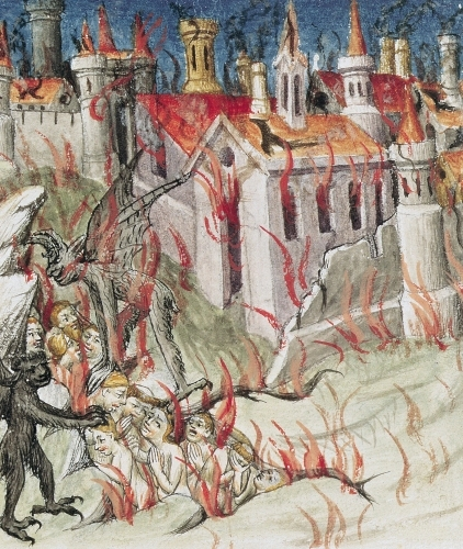 Hell from 'De Civitate Dei' by St. Augustine of Hippo by French School