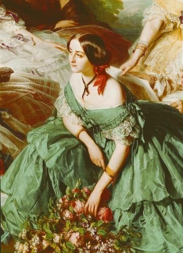 Empress Eugenie and her Ladies in Waiting 1855 by Franz Xavier Winterhalter