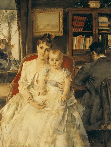 All Happiness by Alfred Emile Stevens