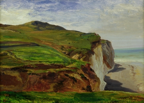 Cliffs by Louis Eugene Gabriel Isabey