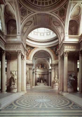 Interior view by Jacques Germain Soufflot