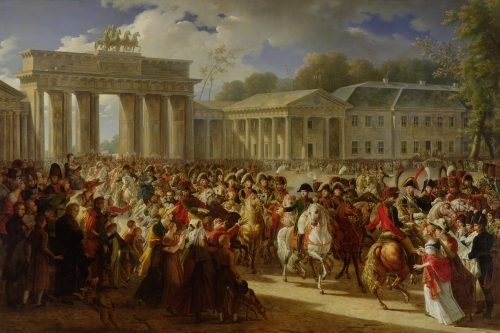 Entry of Napoleon I into Berlin 1810 by Charles Meynier