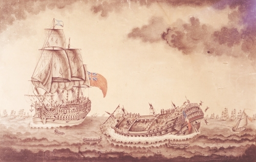 'Le Vengeur du Peuple' Sinking at the Battle of Ouessant by French School