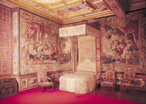 The king's bedchamber by French School