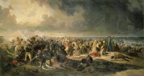 Scene of the Landing at Quiberon 1850 by Jean Sorieul
